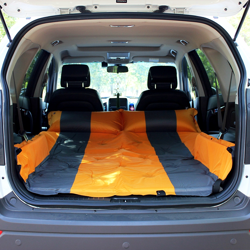 New Auto Inflatable Car Bed Hatchback Travel Bed Air Mattress Covers Rest For Ibiza VW Golf 4 Ford Fiesta Focus 2 Opel Astra betos car air mattress travel bed auto back seat cover inflatable mattress air bed good quality inflatable car bed for camping