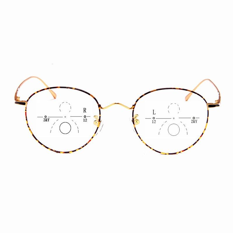 6925a0019949b Alto grau de moda pure titanium progressiva óculos de leitura presbiopia  ultra light retro redonda quadro
