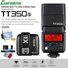 Godox Mini Speedlite TTL TT350S High Speed 1/8000s GN36+2.4G wireless Power Trigger X1T-S+SoftBox+Color Filter Kit For Sony