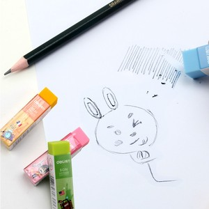 Image 2 - 1 Pack 36Pcs צבעי סוכריות מחק רך PVC 4B עיפרון לבית הספר משרד קטן גודל 60x15x15mm ברור טוב לשימוש מעדנייה 3045