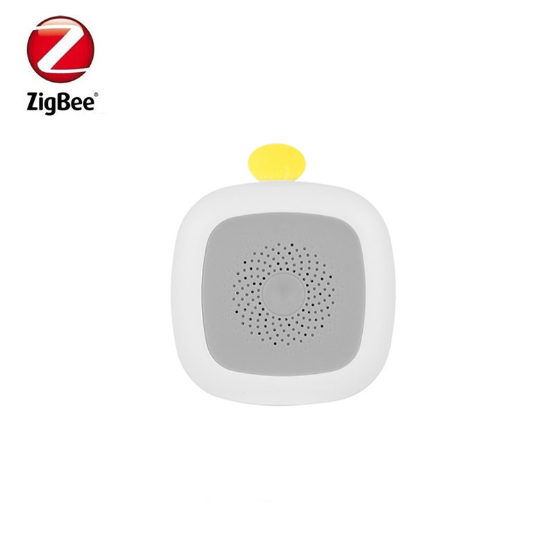 Heiman Zigbee Battery Operated Temperature Humidity Detector Air Quality Control  Detector Alarm Alert By Smart Zone App