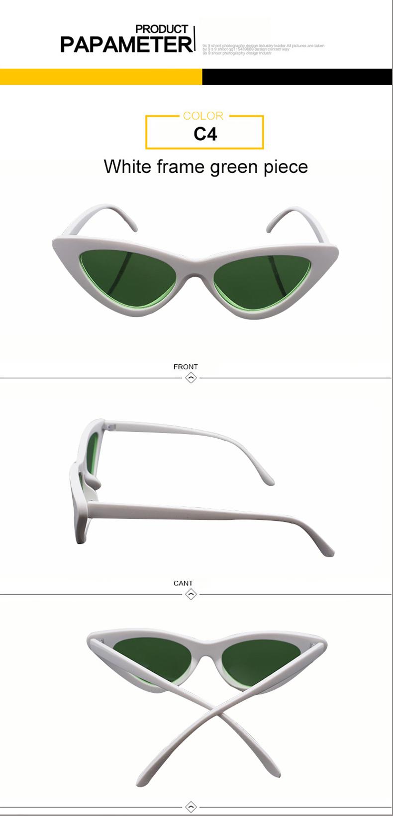 HTB12LMlnwoQMeJjy1Xaq6ASsFXap - WHO CUTIE 2018 Brand Designer Black Cat Eye Sunglasses Women Cool Small Cateye Frame Sun Glasses Fashion UV400 Shades WG-008