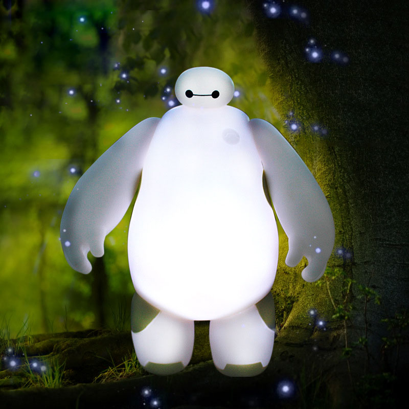 2 Style Action Figure Model Cute High Quality PVC Material Big Hero 6 Baymax LED Lights Home Desktop Decoration Children Gift cartoon fight hero star model desktop decoration gift