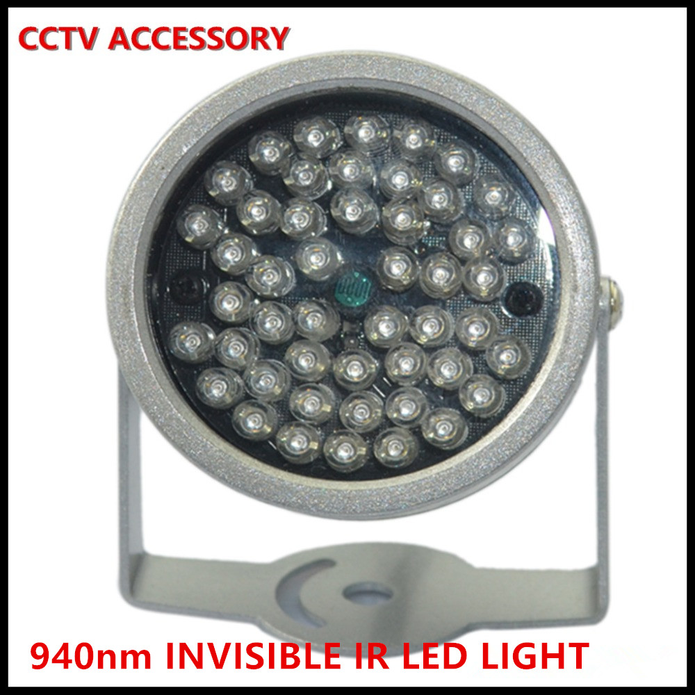 IR illuminator Security Lighting 48PCS Infrared LED For Night Vision Surveillance CCTV Camera Outside 940nm invisible clear IR