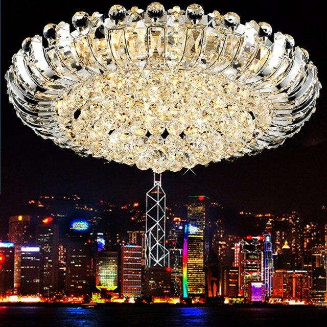 Luxus Deckenleuchte Fr Wohnzimmer Kristall Chrom Decke Lampe Fhrte Fernbedienung Runde Beleuchtung Lampen