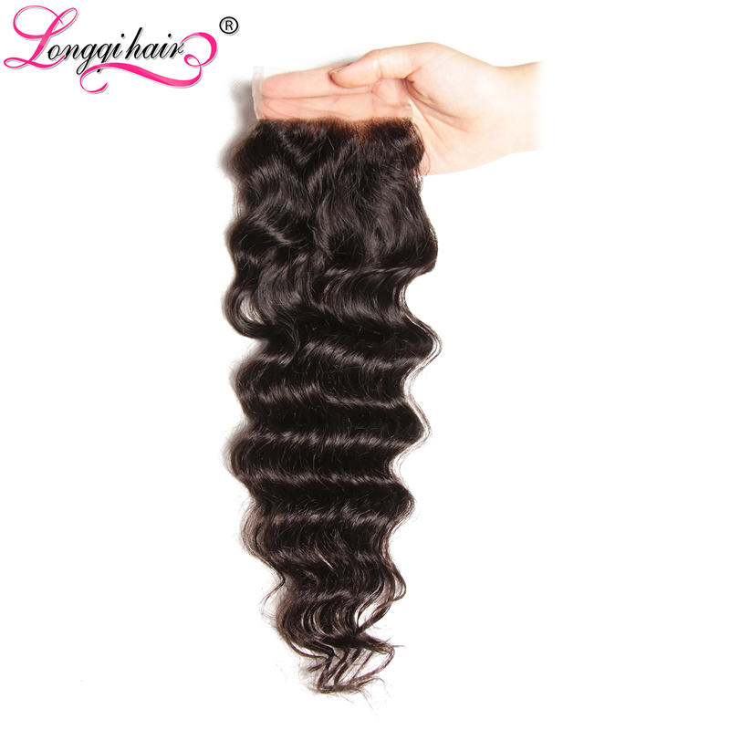 Peruvian Natural Wave Lace Closure Free Part 4x4 Swiss Lace 120 Density Remy Hair 10 20