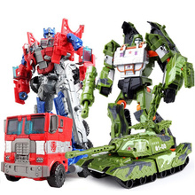 New Cool Robot Car Transformation Toys boys Kids Anime Plastic ABS Action Figure Tank Military Mobel Christmas Gift For Children