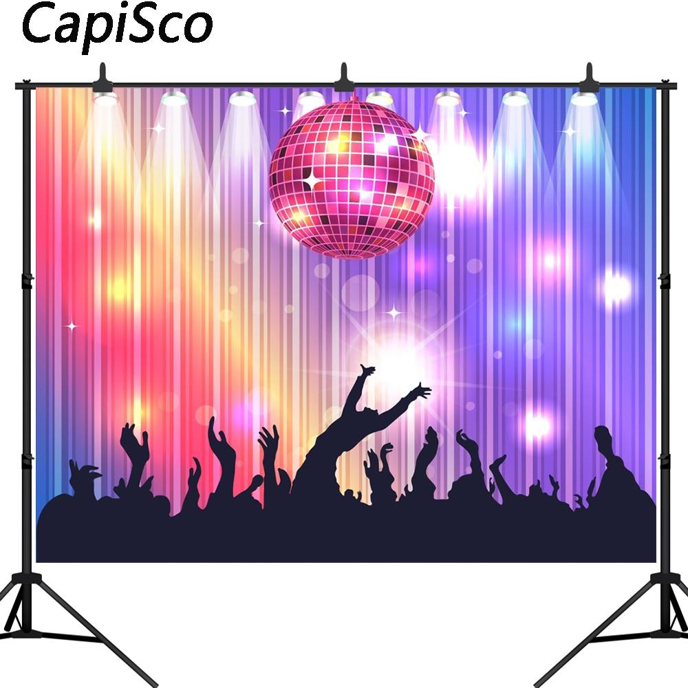 Backgrounds Banner Backdrop Banner Vinyl Backdrop Masquerade Disco Party Decora Backdrop Vinyl Benner Cloth Party Backgrounds for Photographic Studio Adult Portrait Video