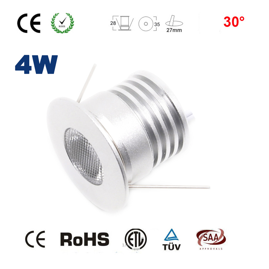 High quality 4w 12V 24V 27mm 80Ra cut COB led downlight lamp outdoor prom led down light for Showcase Display Lighting