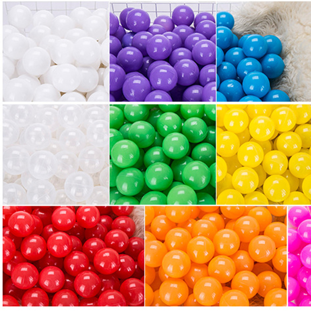 100 pcs/lot Eco-Friendly Colorful Ball Pits Soft Plastic Ocean Ball Water Pool Ocean Wave Ball Swim Toys For Children Kids Baby  3