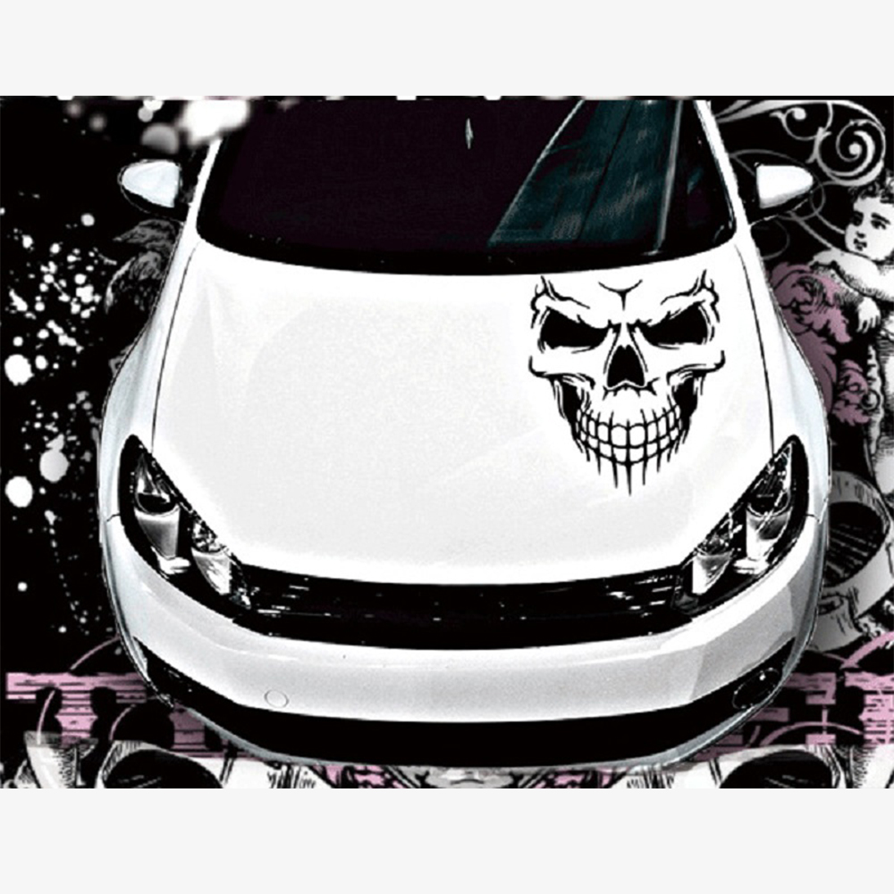 Big 40*36cm Car Stickers Skull Head Reflective Vinyl Car Styling Car-covers Accessories Funny Decoration Exterior Accessories