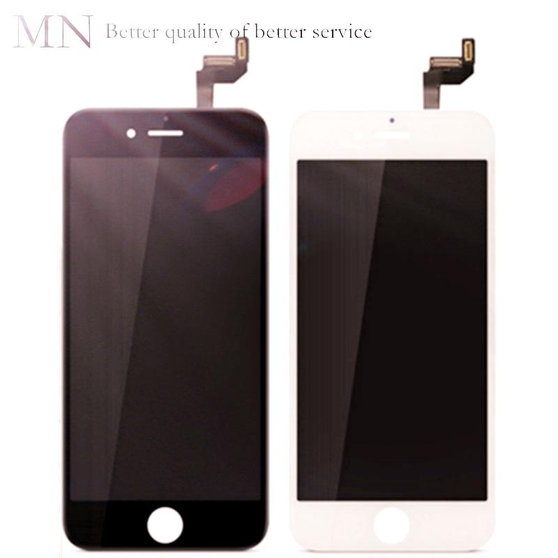 imágenes para Número de seguimiento + 100% Probado LCD Digitalizador Asamblea AAA + + + piezas de Repuesto Para iPhone 5 6 6 S PLUS-blanco Negro