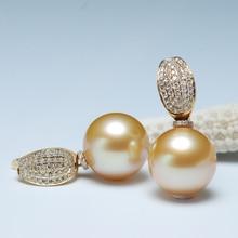 цены Sinya 18k Au750 Gold diamond stud earring with Natural southsea pearls fashion design fine jewelry for women girls Mum 2019 news