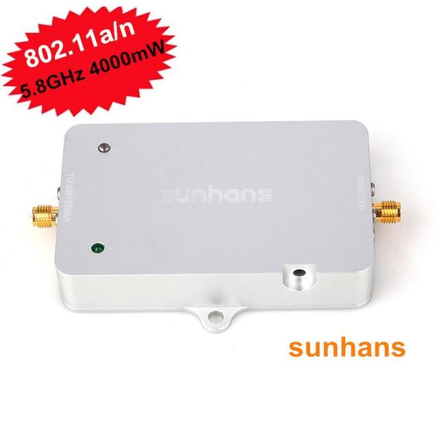 100% Original Sunhans 5.8GHz SH58Gi4000 4W (36dBm) IEEE 802.11a/n WiFi Signal Booster Monitor Signal Amplifier