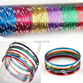 50pcs Wholesale jewellery Lots Set Indian Dance Bangle Aluminum Bracelets & Bangle Cuff Bulks Women Charm Gift Drop Free