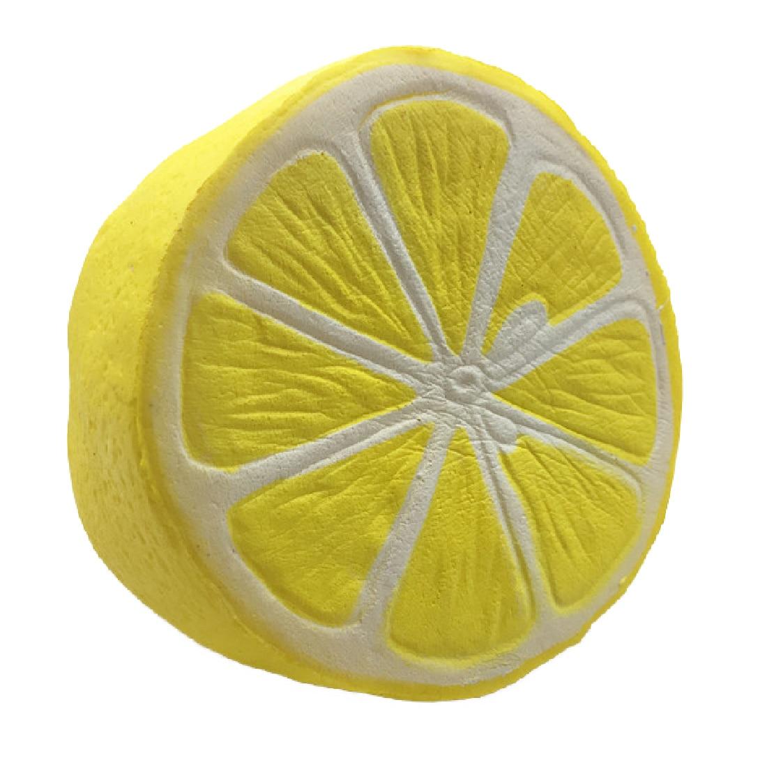Etmakit Cute 11CM Jumbo Squishy Lemon Kawaii Squishy Fruit Slow Rising Decoration Phone Strap Pendant Squishes Gift Toys Doll