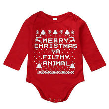 Christmas Long Sleeve Baby Rompers Girl One Pieces Cute Clothes Jumpsuits Bebe Infantil Clothing