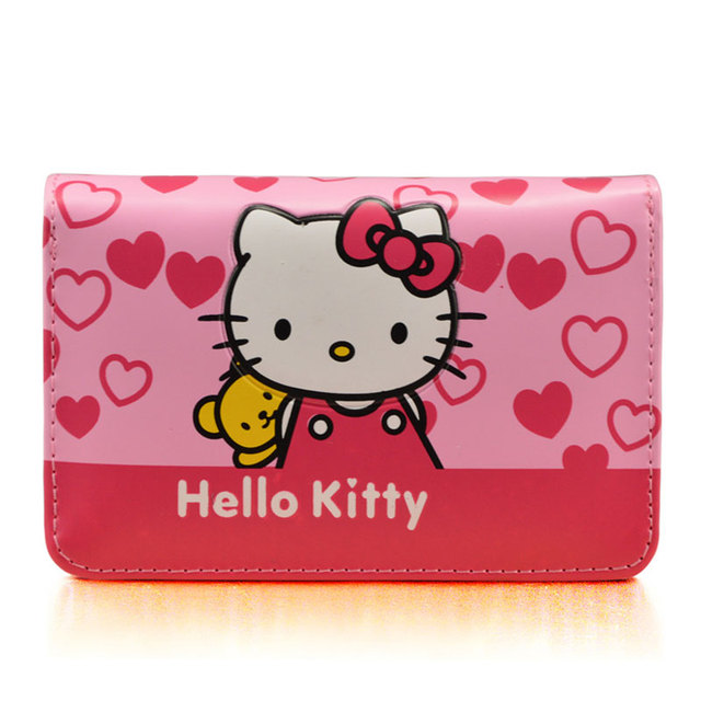66fee9754 Cute Cartoon Hello Kitty Famous Brand Designer Purse Women Leather Wallets  For Girls Clutch Purse Lady Party Wallet Card Holder