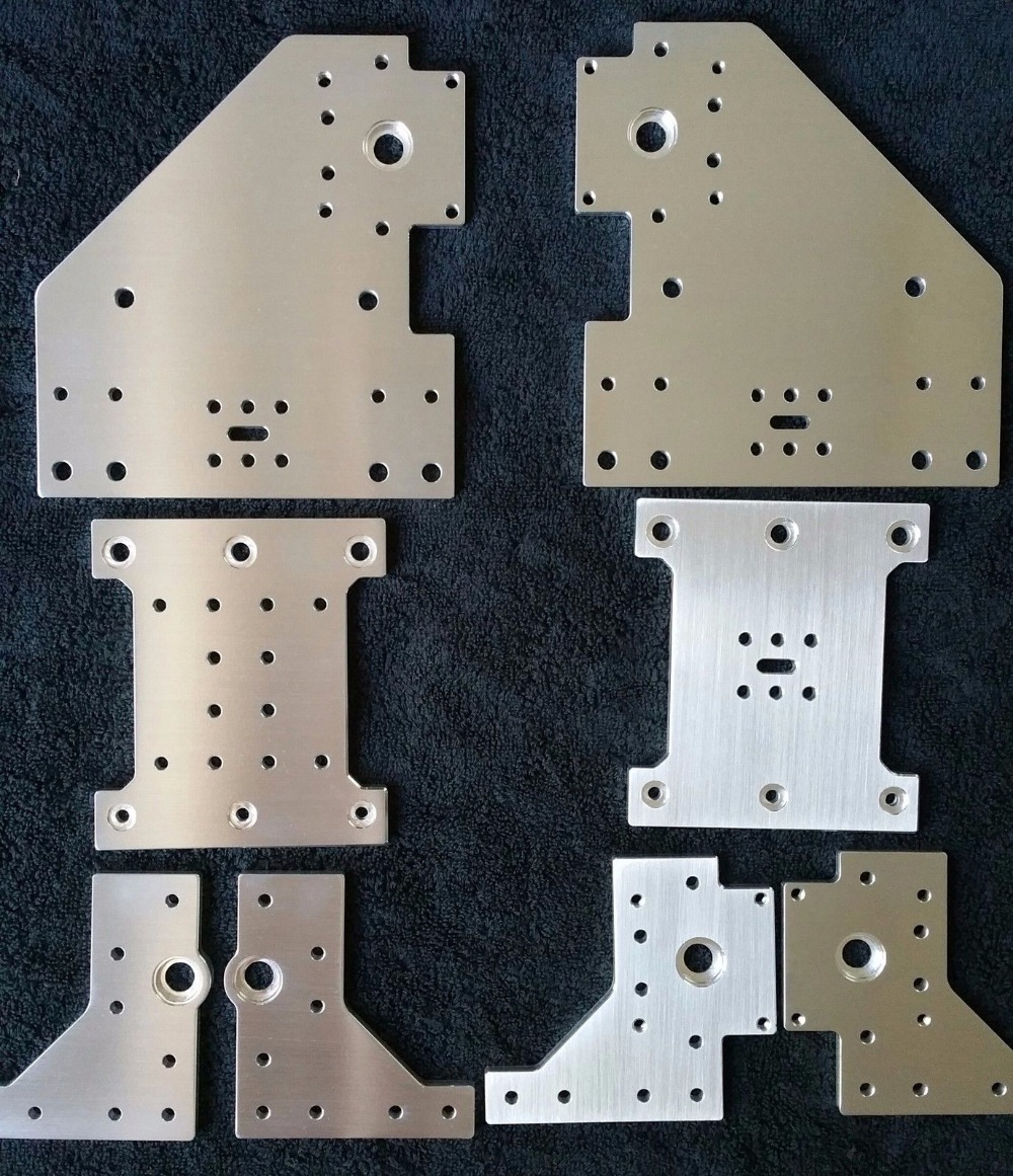 SWMAKER set of 8 Aluminum Gantry Plates kit for Kyo's Sphinx CNC machine Kyo Sphinx DIY CNC aluminum Plate set
