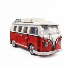 Кирпичи 1354 шт. технические блоки для румян автомобилей Volkswagen T1 Camper модель автомобиля-фургона блоки, совместимые Legoing идеи 10220 кирпичи игрушки 21001