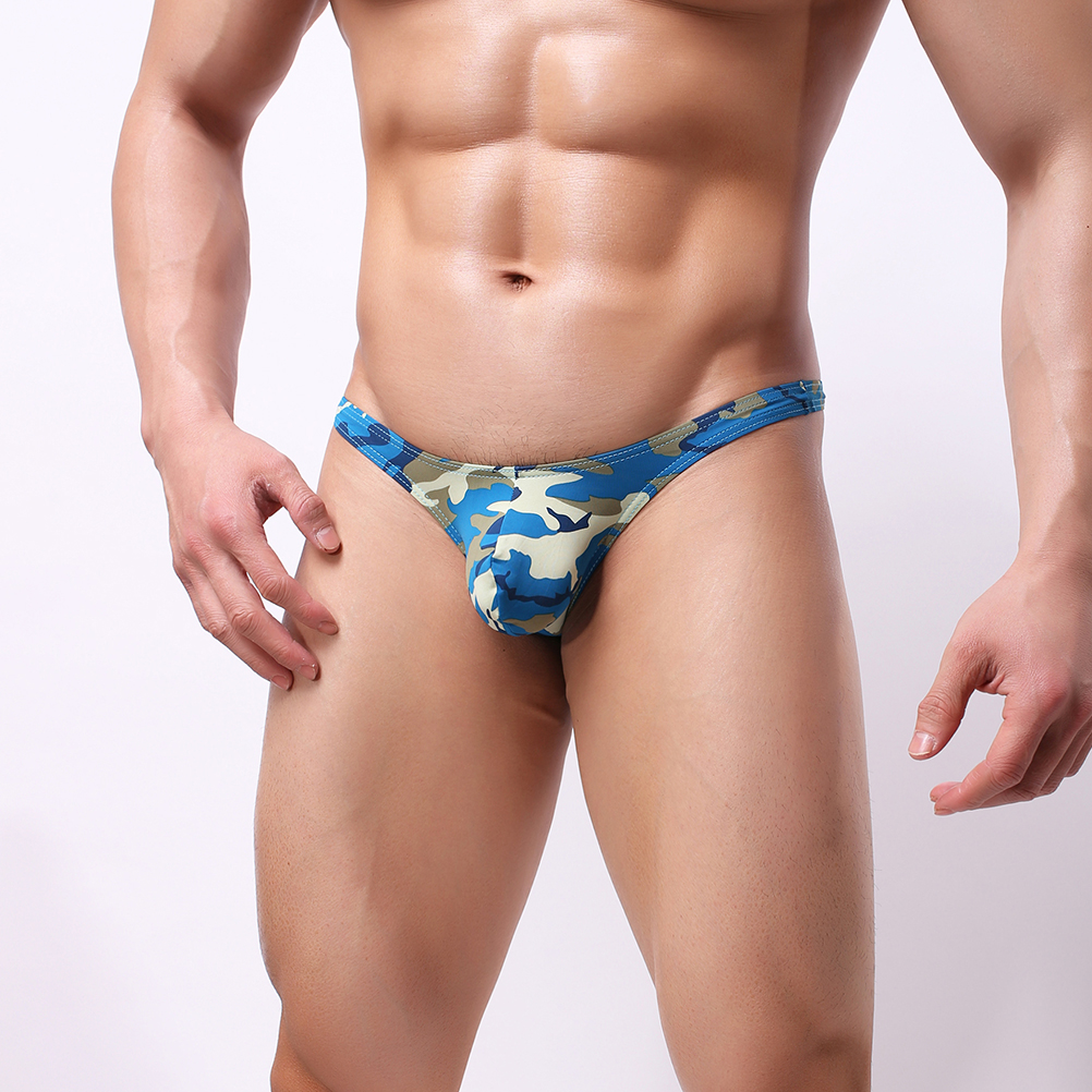 Men Sexy Breathable Colorful Personal Briefs Bikini G-string Thong Jocks Tanga Underwear Shorts Exotic T-back