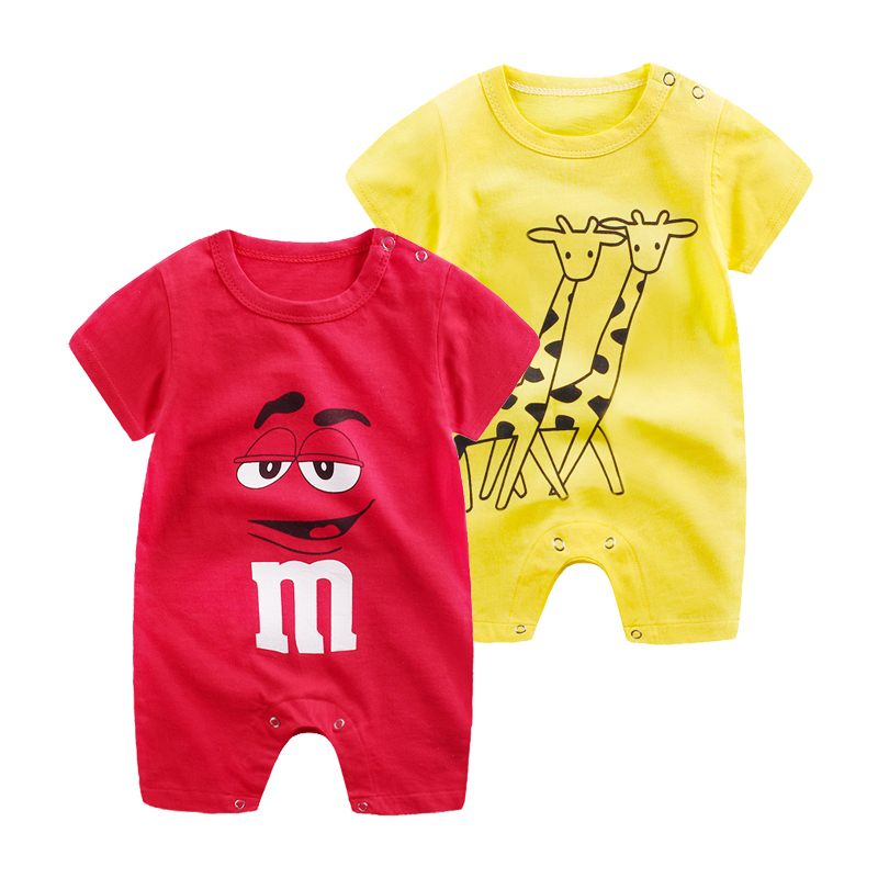 2019 Summer Boys And Girls Fashion Ha Cloth Newborn Baby Climbing Clothes Brands Baby Girl   Romper   Infant Animal Costumes Pajamas