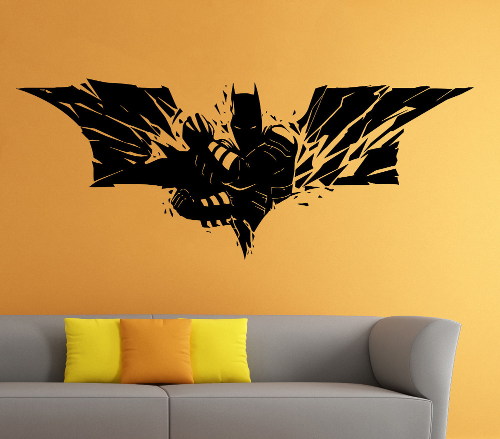 Fair 40 batman wall decor decorating inspiration of 25 best batman wall decor batman wall vinyl decal the dark knight sticker superhero atr home amipublicfo Image collections