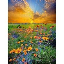 5D DIY Diamond Painting Flower field Cross Stitch Embroidery Full rhinestones Wall Arrangement