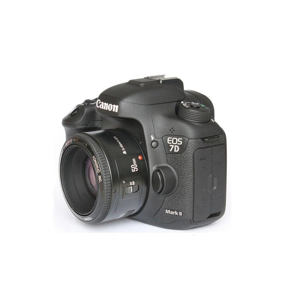 Объектив YONGNUO YN 50 мм F1.8, объектив YN 50 YN50 с большой апертурой и автофокусом для цифровых зеркальных камер Nikon Canon EOS
