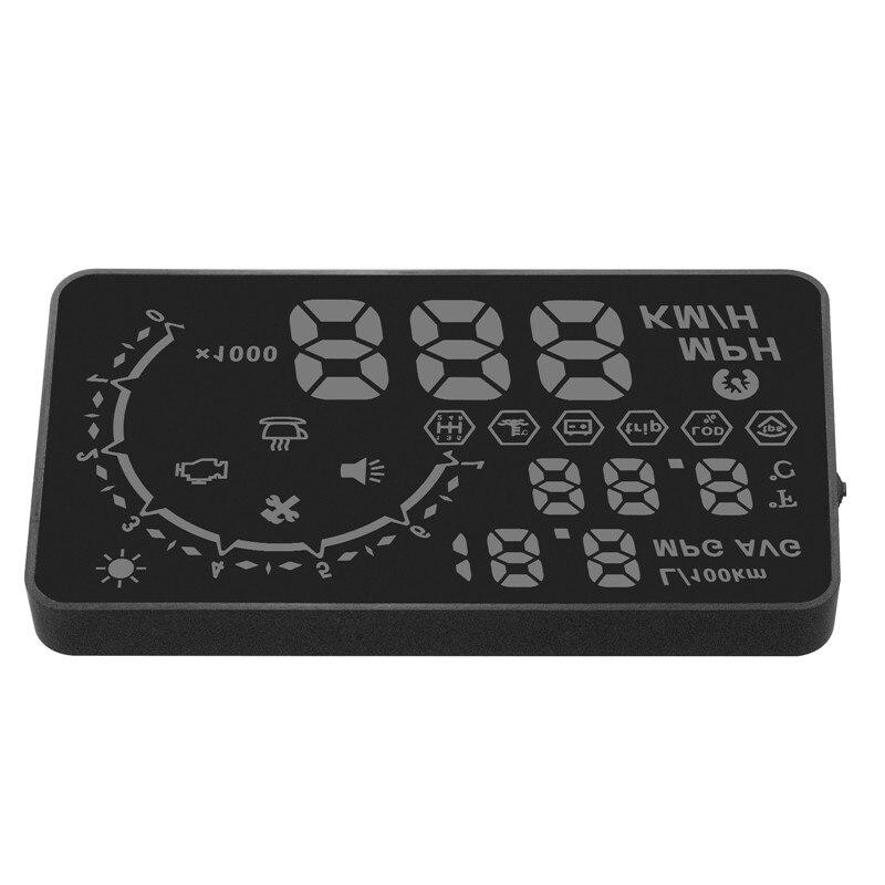 Car Styling Universal Car HUD Head Up Display 5.5 GPS Speedometer Smart Digital Car speedometer Interface