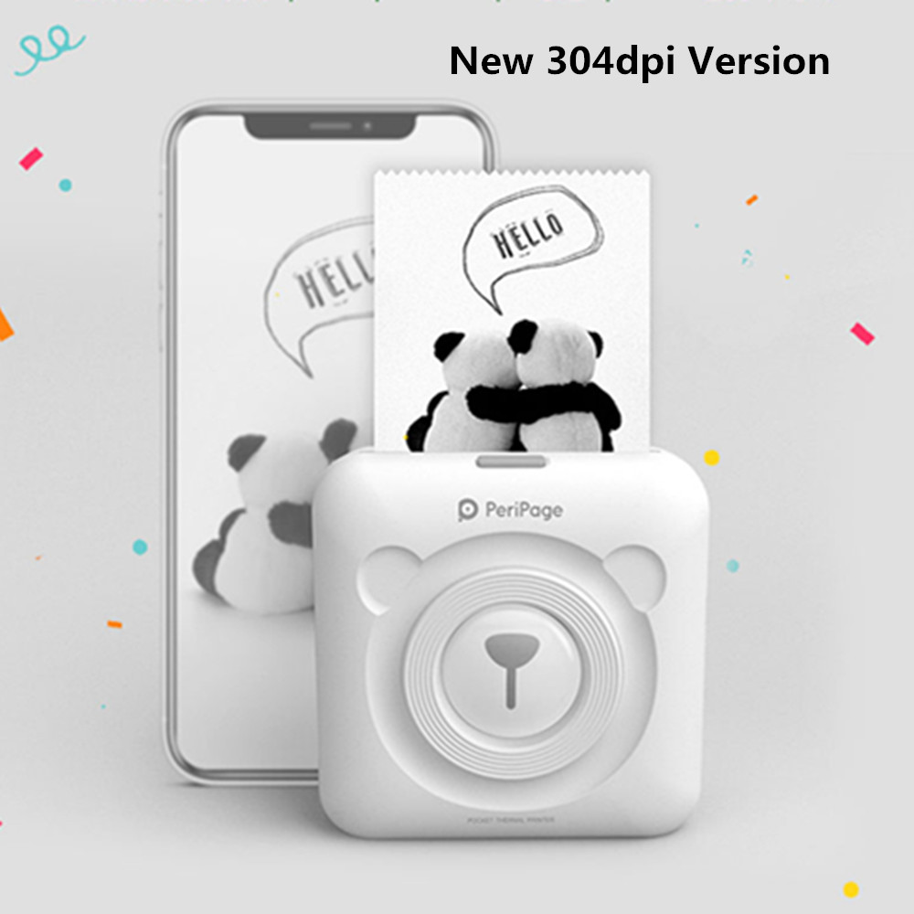 Image 3 - GOOJPRT New! 304dpi Peripage Mini Photo Bluetooth Pocket Photo Printer Imprimante for Mobile Phone Android iOS Kids Ladies Gifts-in Printers from Computer & Office