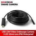Мини USB Эндоскоп Инспекции Камеры Безопасности 15 м (49.2ft) Водонепроницаемый Кабель 10 мм Объектива 6 Шт. Светодиодов Ночного видение Sanke Камеры