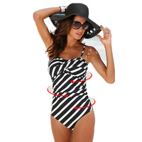 2018 One Piece Swimsuit Women Plus Size Swimwear Print Solid Swimwear Vintage Retro Bathing Suits Monokini
