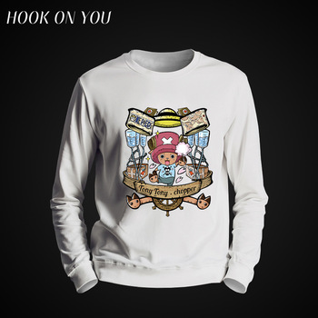 2017 New Hot One Piece Joba Series Men Round Neck Hoodie Casual Fleece Tony Tony Chopper Print Sweatshirt Cool Clothes Funny Top