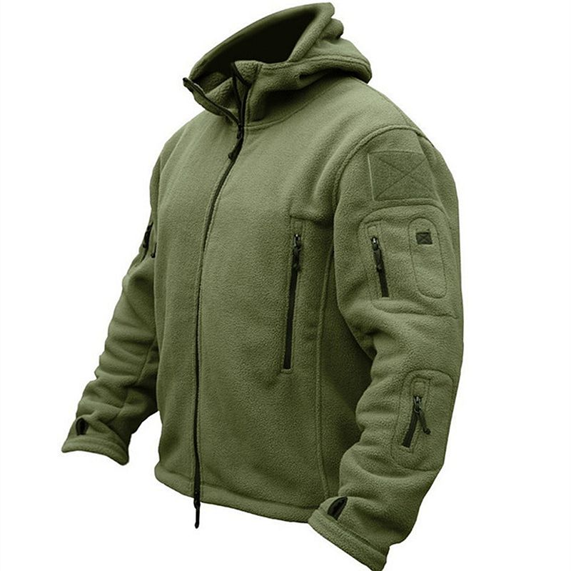 Military Tactical Uniform Outdoor Softshell Fleece Jacket Men US Army Clothes Warm Sport Hoodie Thermal Jacket S-XXL GRAY SAND