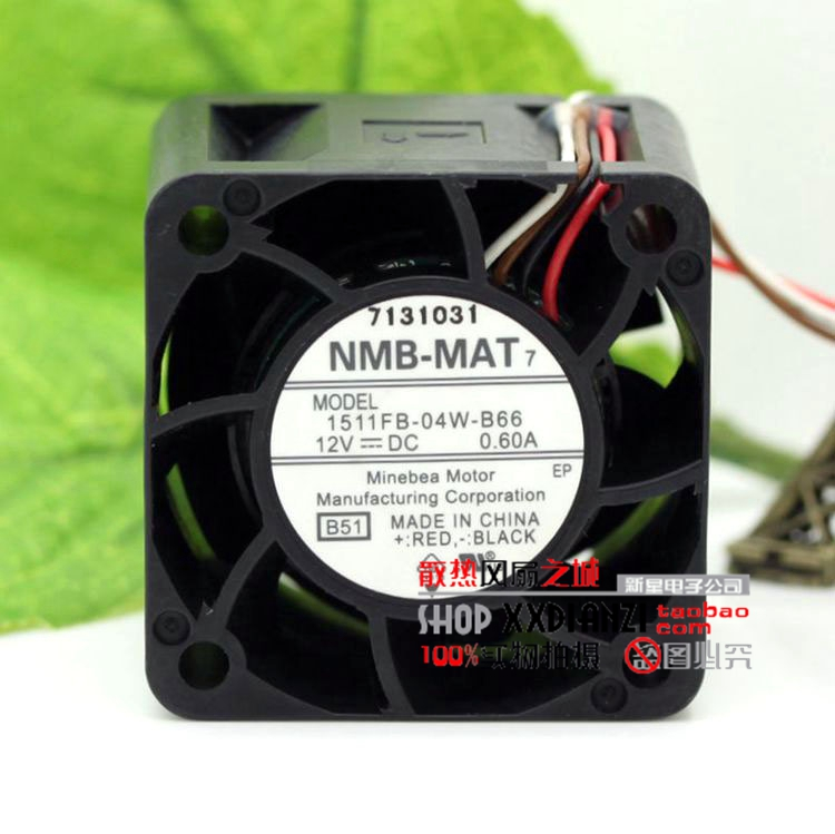 Free Delivery.4CM 12V 0.60A 1511FB-04W-B66 server motor modified oil cooling fan