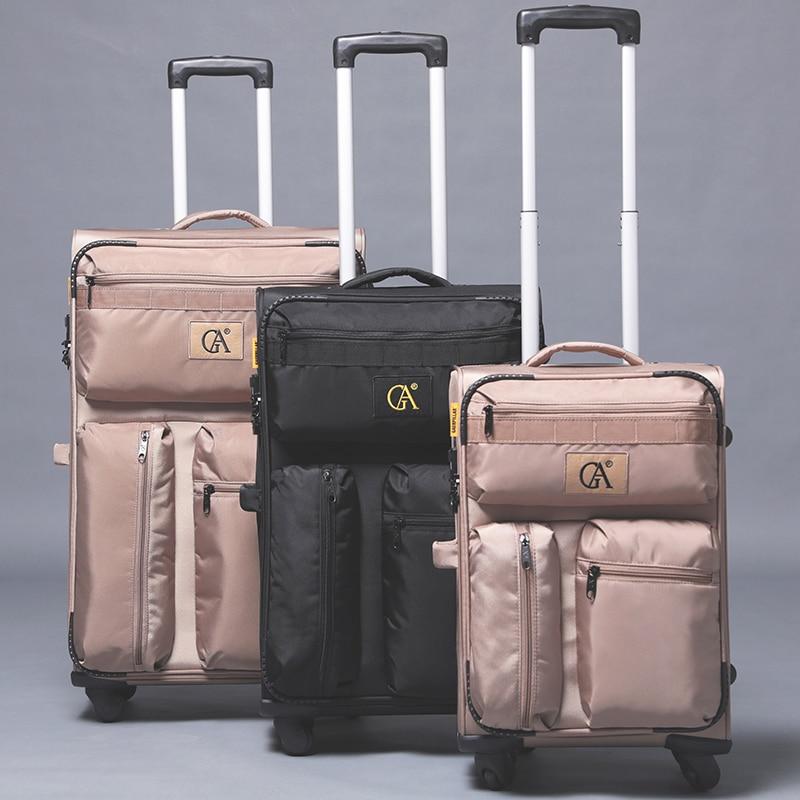 2018 Neue Männer Ultraleicht Roll Gepäck Tasche Serie 20 24 28 Zoll Trolley Reisetasche Frauen Marke Multi-tasche Trolley Koffer