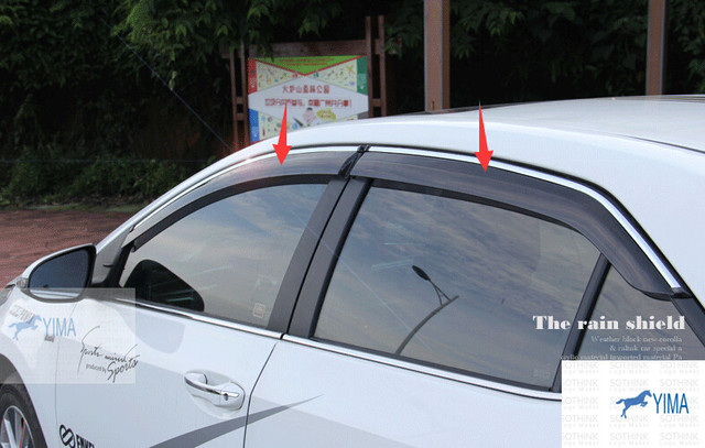 New! For Toyota Corolla 2014 Window Visors Awnings Wind Rain Deflector Visor Guard Vent