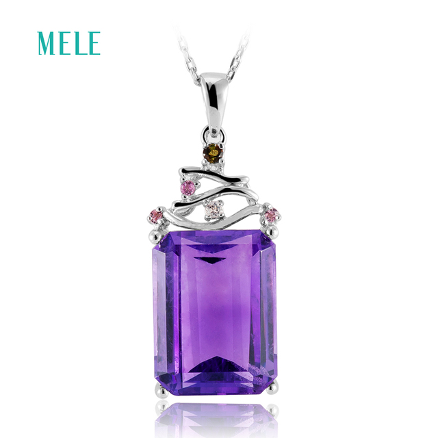 Mele natural amethyst silver pendant 12mm16mm africa amethyst mele natural amethyst silver pendant 12mm16mm africa amethyst deep color and aloadofball Image collections