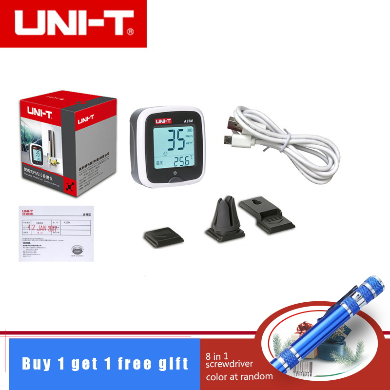 UNI-T A25M handheld Rechargeable Formaldehyde PM2.5 Detector Air Quality meters UNI-T A25M handheld Rechargeable Formaldehyde PM2.5 Detector Air Quality meters
