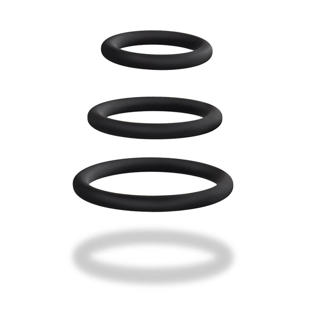 Silicone Cock </br>Rings, 3 Pieces
