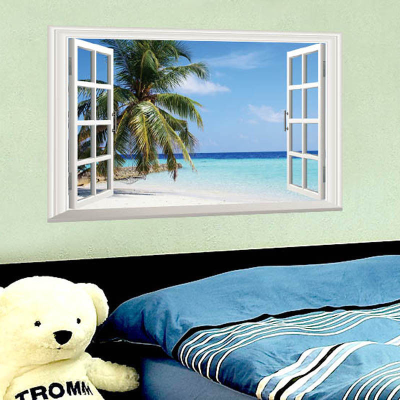 Tree Wall Sticker Picture More Detailed Picture About Ocean Sea - Window stickers for home uk