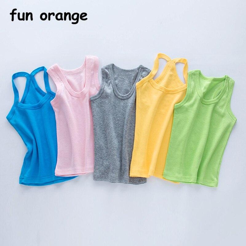 100% Baumwolle 9 Candy Farbe Neue Sommer Unterhemd Mädchen Tank Top Blume Camisolas Für Mädchen 2-13y Kt-1819 Oberteile Und T-shirts Mutter & Kinder
