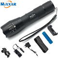 ZK20 Cree 4000LM E17 LED Flashlight Zoomable Torch Waterproof Flashlights XM-L T6 5 Mode LED Light For 3x AAA or 18650 Battery