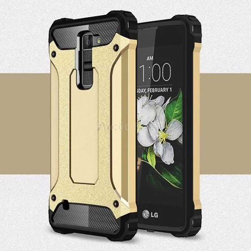 low priced 6fcc4 bdea5 US $3.74 |Hybrid Dual Heavy Duty Armor Case Cover for LG K7 M1 Tribute 5  LTE X210 X210DS MS330 LS675 Back Cover Phone Cases for LG K7 Case on ...