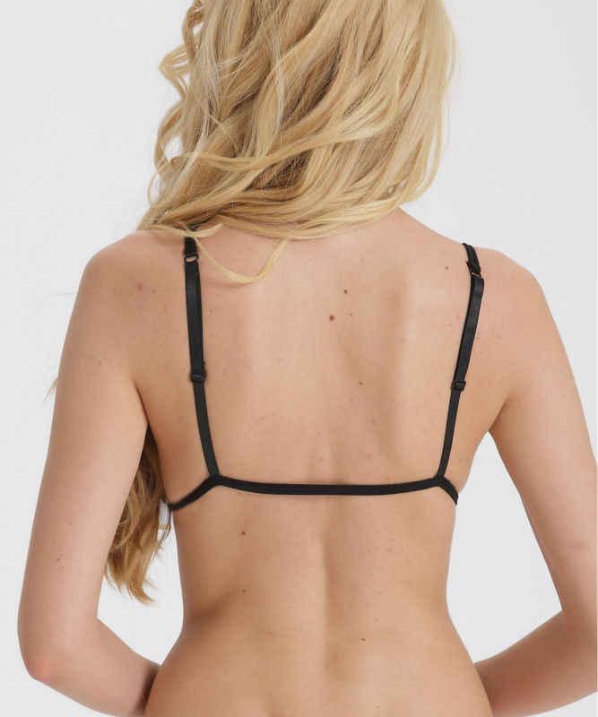 9181afcad5a ... Lady Secret Fashion New Sexy Women Black Lace Triangle Bra Lingerie  Crop Top Bralette Unpadded Soft ...