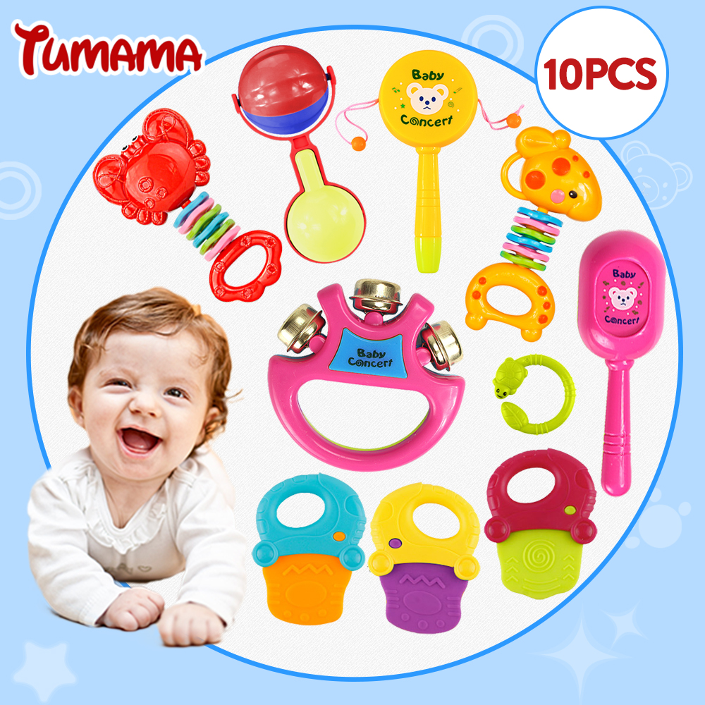 New Baby Toys : Tumama pcs lots new baby toys kids rattle toddler music