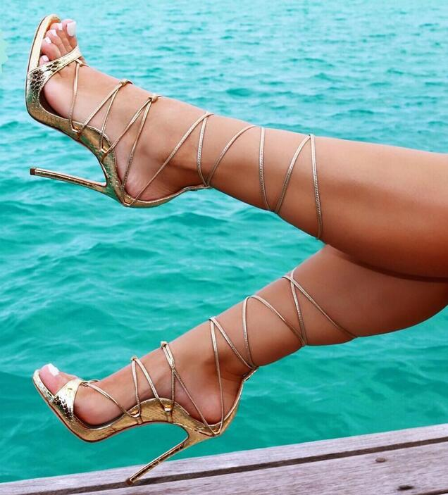 Hongyi Gladiator Sandal Shoes for Women Summer Stiletto Heel Sandals Open toe Platform Pumps Buckle Strap High Heel Sandals phyanic 2017 gladiator sandals gold silver shoes woman summer platform wedges glitters creepers casual women shoes phy3323