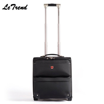 LeTrend 16 Business Oxford Travel Multi-function Luggage Trolley Men Large Capacity Travel Fixed Casters Rolling Luggage