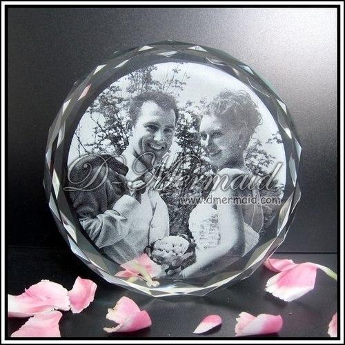 3D Laser Crystal Sunflower Photo Frame Wedding Gift